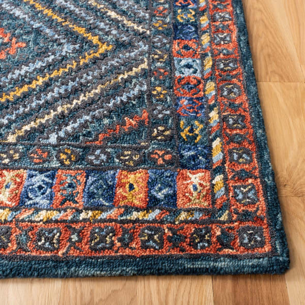 Vail Red & Green Wool Rug