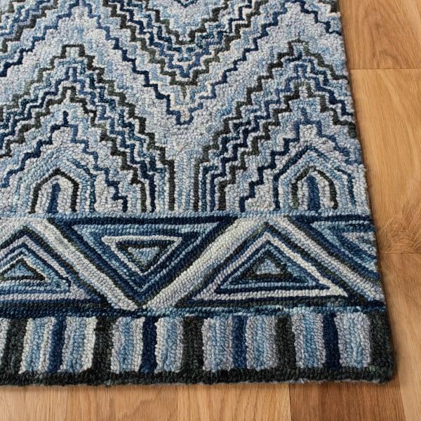 Vail Gray & Blue Wool Rug
