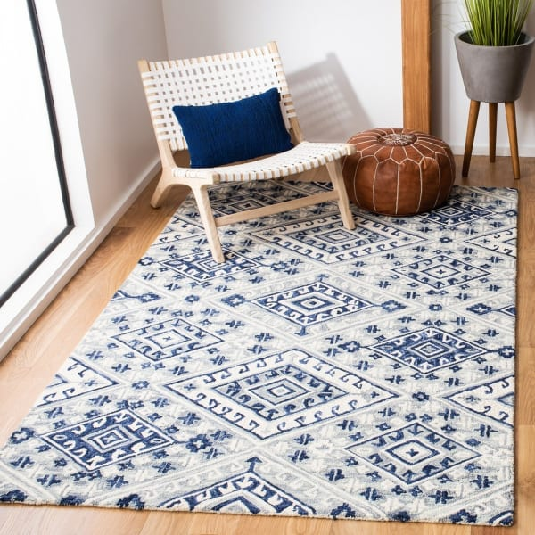 Safavieh Vail Gray & Blue Wool Rug