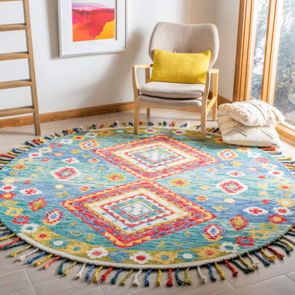 Safavieh Vail Green & Red Wool Rug