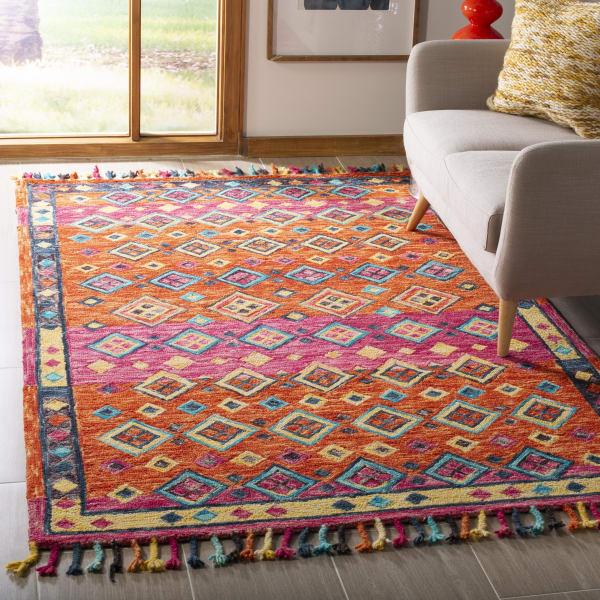 Vail Orange & Pink Wool Rug