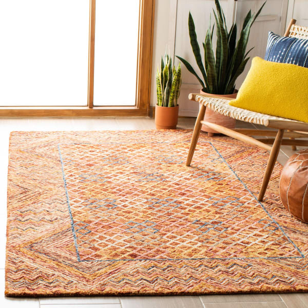 Vail Gold & Pink Wool Rug