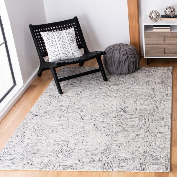 Vail  Gray & White Wool Rug