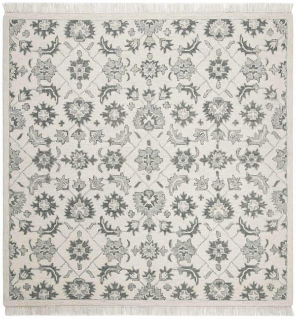 Safavieh Vail Square Green & Gray Wool Rug