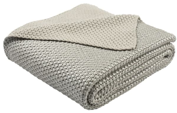 Safavieh Tickled Grey Knit Throw