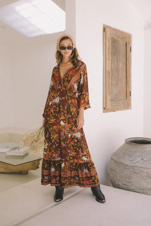 Autumn Peasant Dress