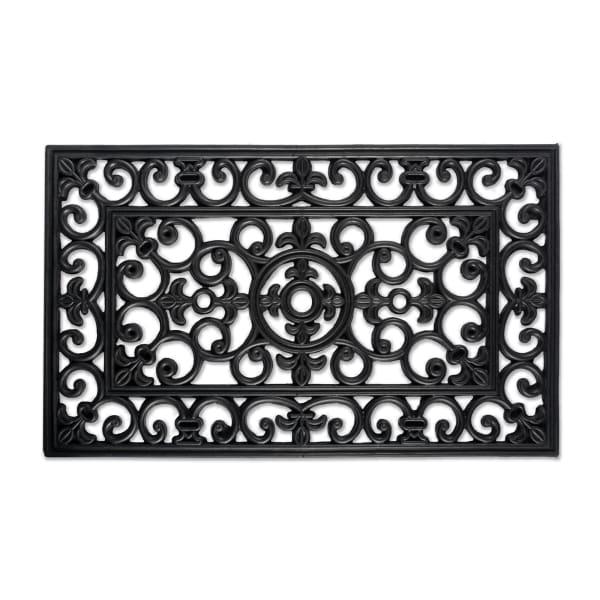 J&M Wrought Iron Rubber Doormat 18x30