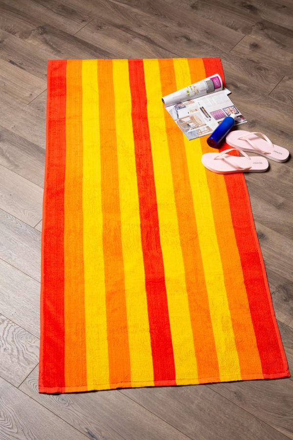 J&M Cabana Orange Stripe Beach Towel