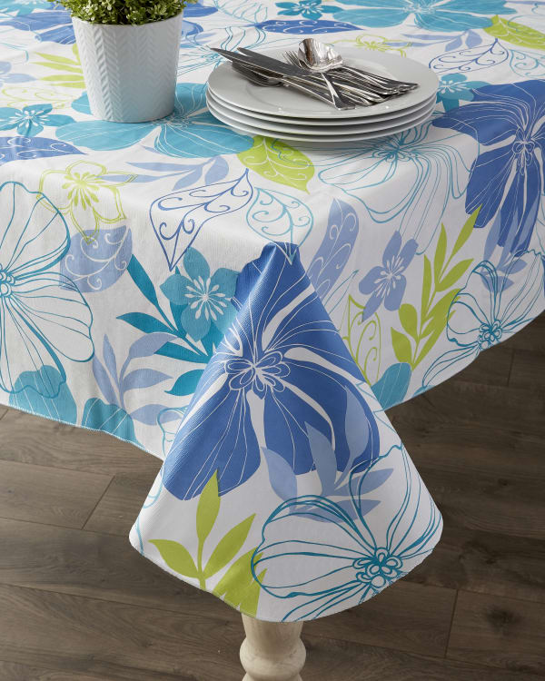 "Tropical Bahama Vinyl Tablecloth 70"" Round"