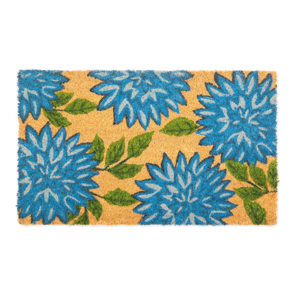 J&M Dahlia Vinyl Back Coir Doormat 18x30