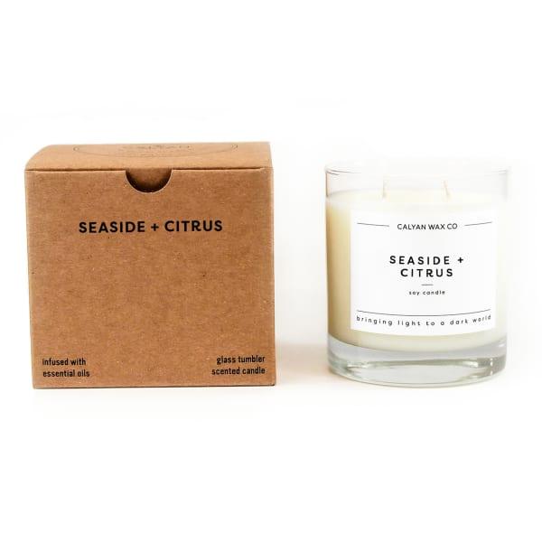 Calyan Wax Co Seaside/Citrus Soy Wax Candle Glass Tumbler