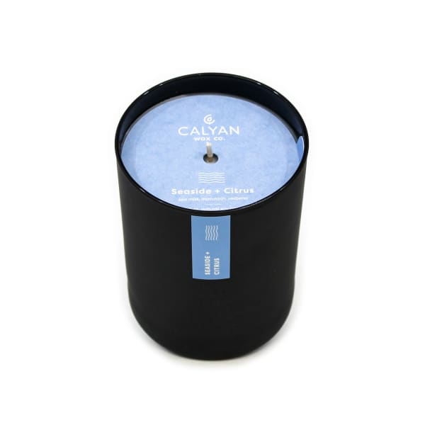 Calyan Wax Co Seaside/Citrus Soy Wax Candle Black Tumbler