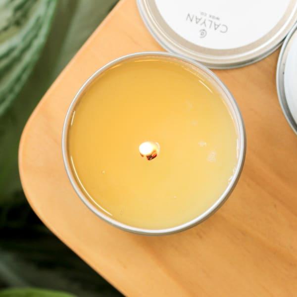 Calyan Wax Co Cedar/Tobacco Soy Wax Candle Tin