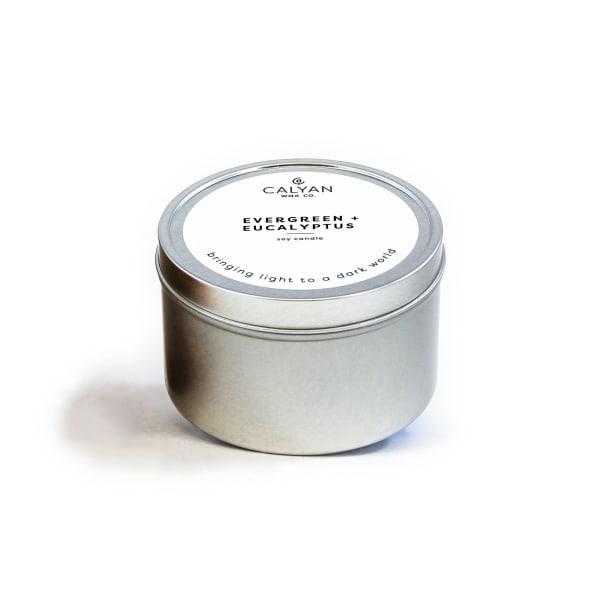 Calyan Wax Co Evergreen/Eucalyptus Soy Wax Candle Tin