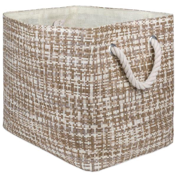 Paper Storage Bin Tweed Stone Rectangle Large 17x12x12