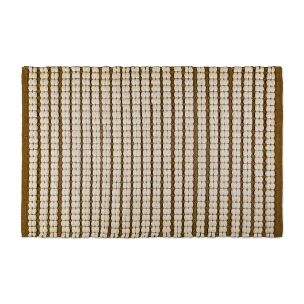Stone Braided Stripe Rug 50x80cm