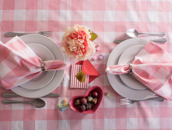 Picnic Check Pink Napkin Set of 6
