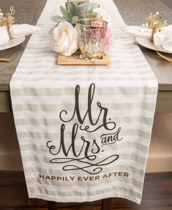 Mr. and Mrs. Table Runner 14x72
