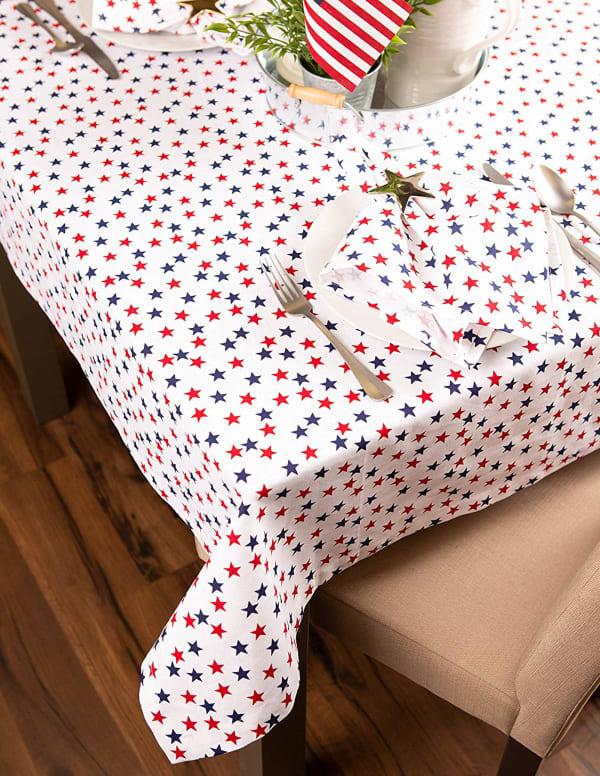 Americana Stars Print Tablecloth 60x84