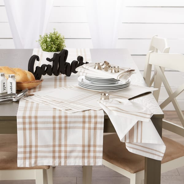 """Stone Home Sweet Farmhouse Placemats, 13x19"""", Set of 6"""