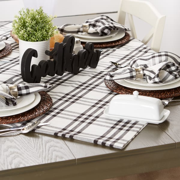 Homestead Plaid Tablecloth 60x104