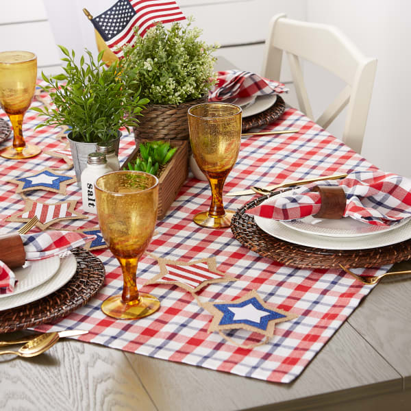 American Plaid Table Topper 40x40