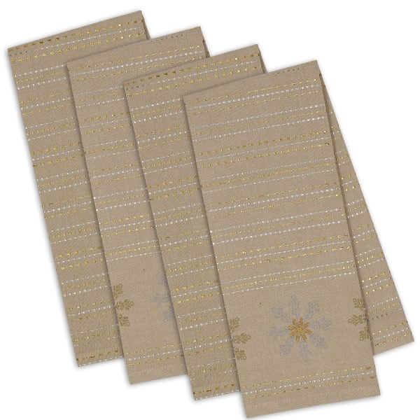 Snowflake Sparkle Set of 4 Dishtowels