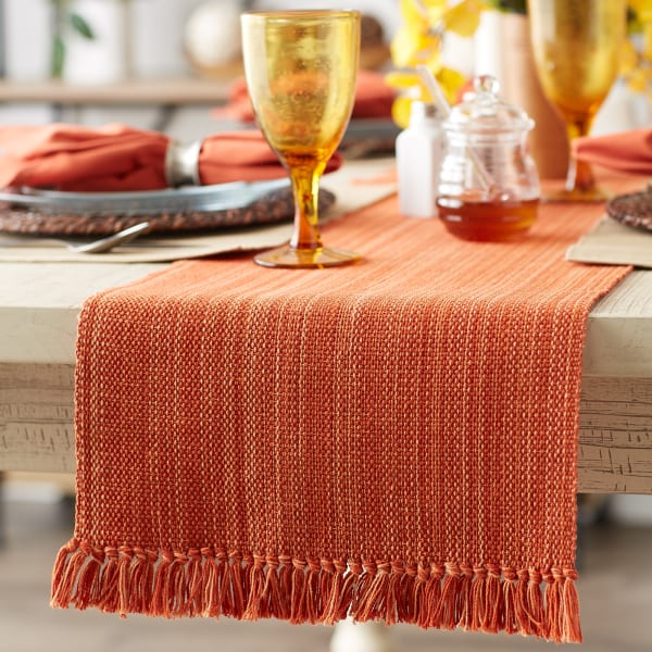Spice Fringe Table Runner