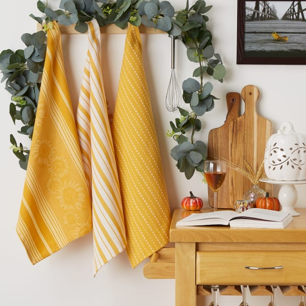 Burnt Apricot Sonoma Harvest Dishtowel Set/3