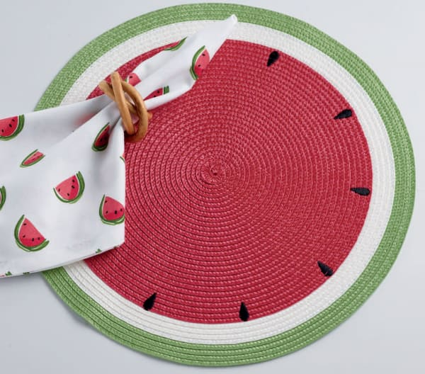 Summer Day Watermelon Placemats Set/6