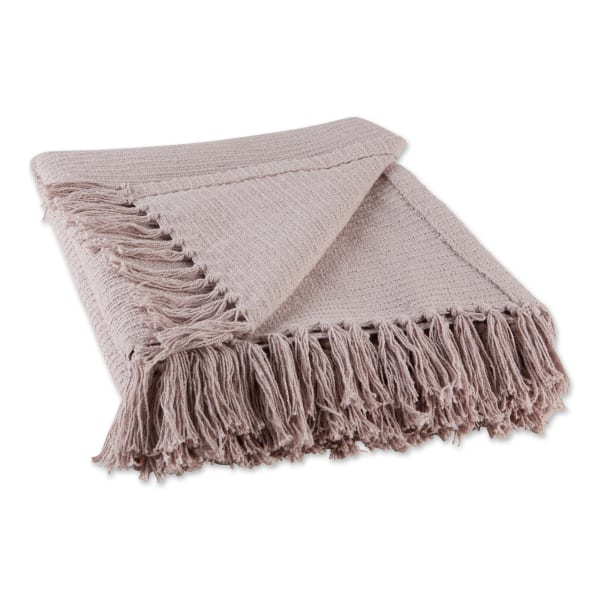 Dusty Lilac Solid Ribbed Throw