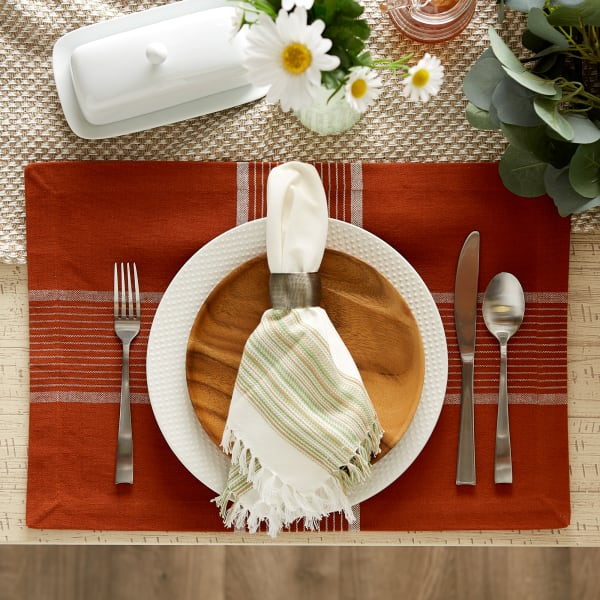 Fiesta Rust Check Set of 6 Placemats