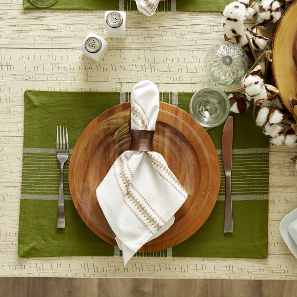 Fiesta Green Check Set of 6 Placemats