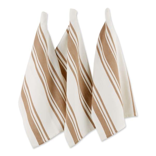 Chef Stripe Stone Set of 3 Dishtowels
