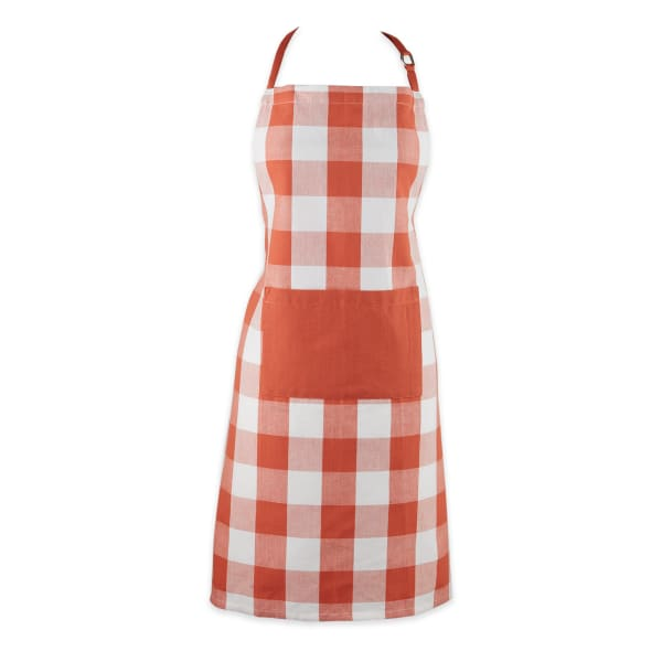 Vintage Red Buffalo Check Chef Apron