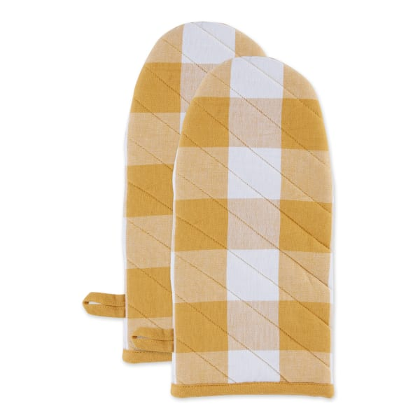 Buffalo Check Honey Gold Oven Mitt Set of 2