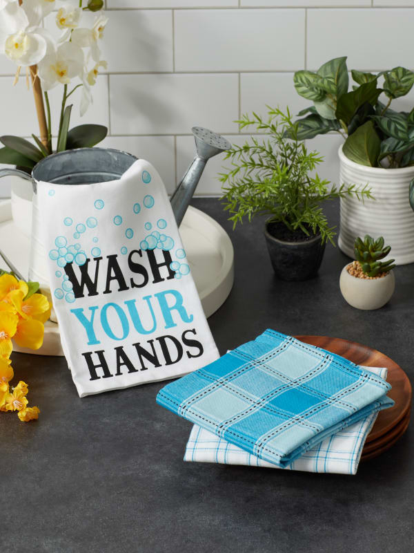 Wash Your Hands 3 Piece Dishtowel