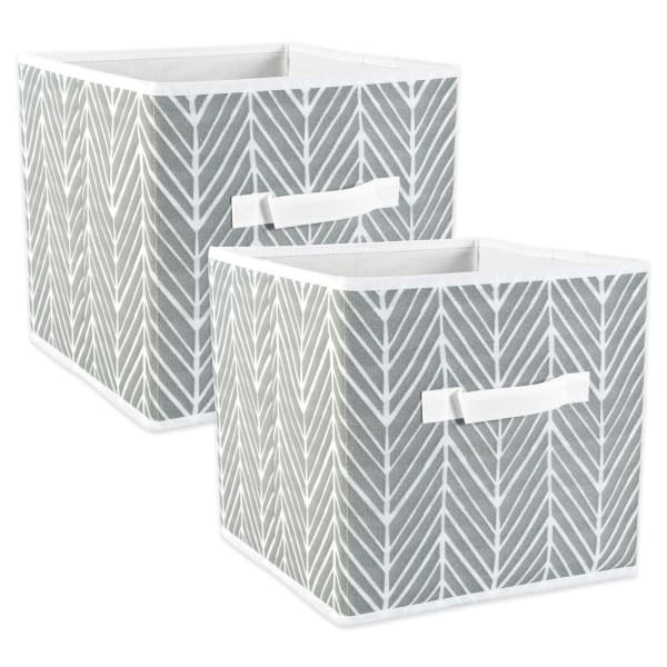 Black DII Decorative Metallic Lurex Storage Basket Square - 11x11x11 Collapsible /& Convenient for Home Organizational Solutions