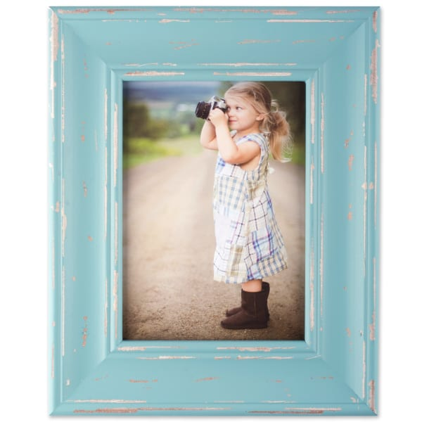 5x7 Blue Farmhouse Distressed Picture Frame