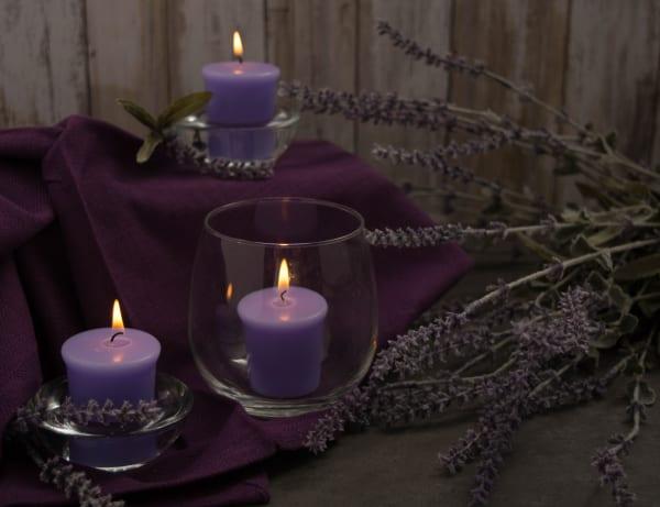 Lavender Blossom Votives 8 Pc
