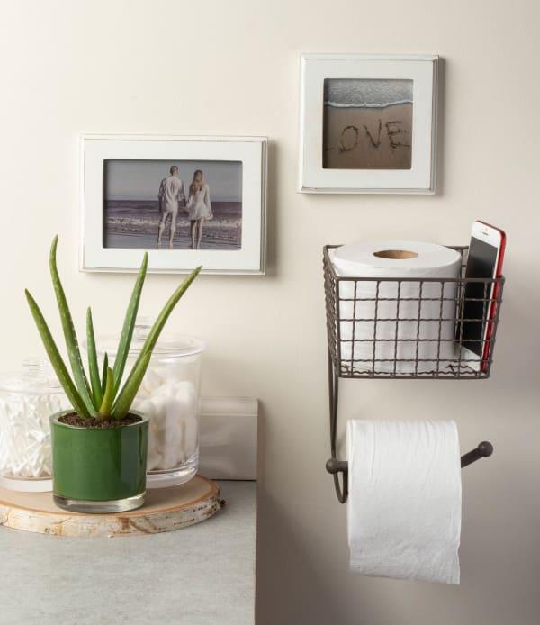 Farmhouse Toilet Paper Holder Rustic