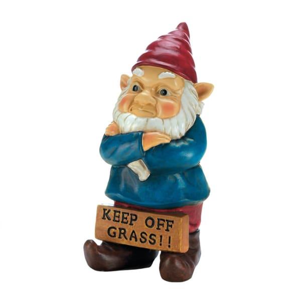 Keep Off Grass Grumpy Gnome