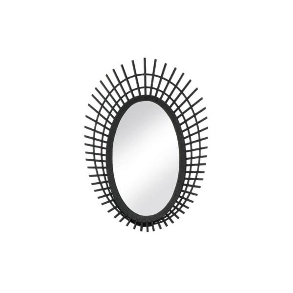 Riki Small Black Bamboo Mirror