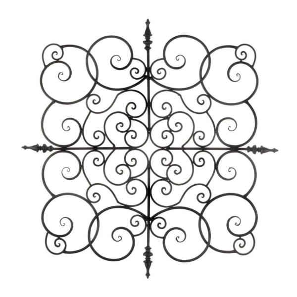 Square Fleur-De-Lis Wall Plaque