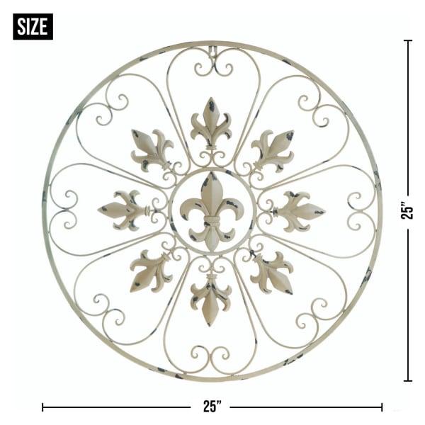 Circular Fleur-De-Lis Wall Decor