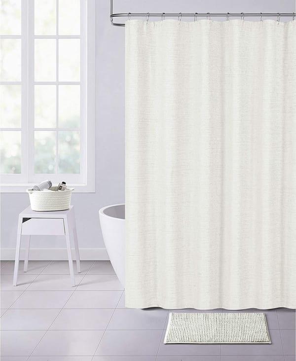 Dainty Home Paris Chenille Shower Curtain