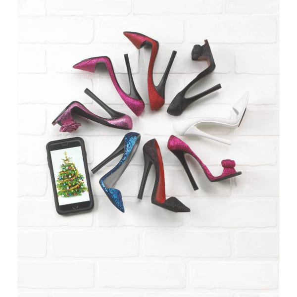 Sparkle Black Shoe Phone Holder