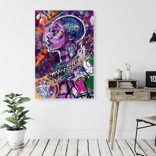 Black is Love Canvas Wall Art