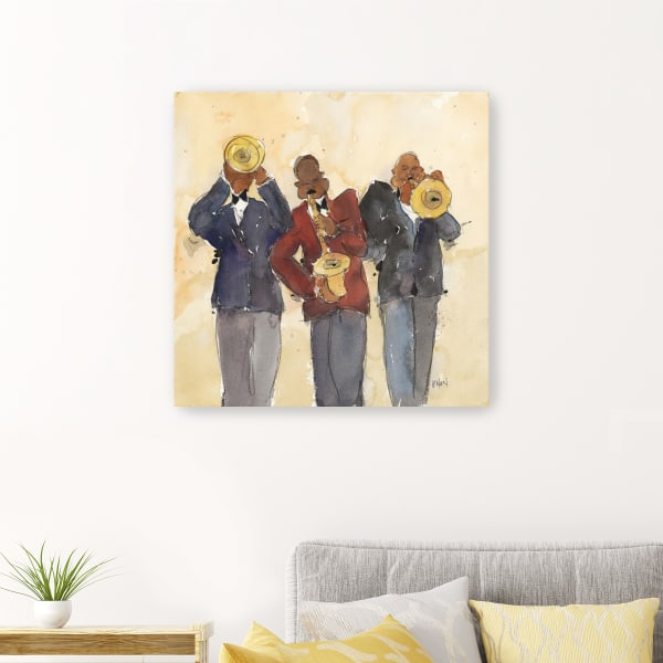 Jazz Trio I Canvas Wall Art
