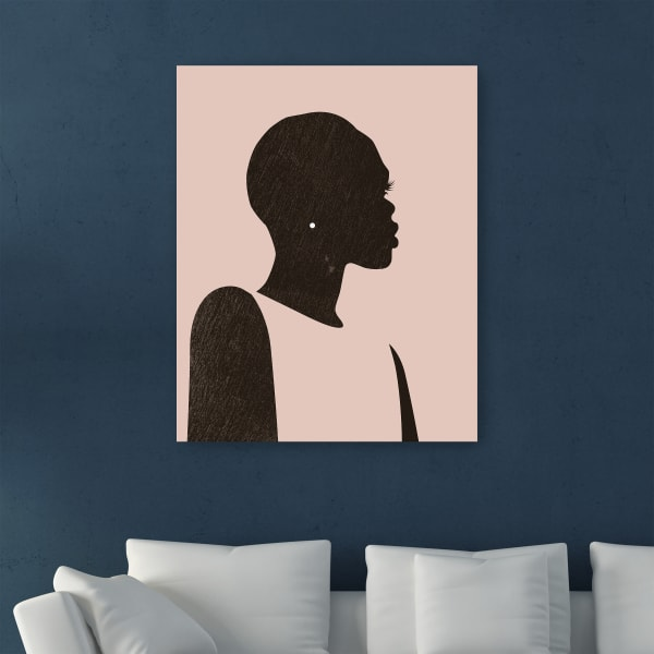 Pink Silhouette II Canvas Wall Art